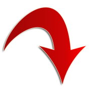 red-arrow-down-right